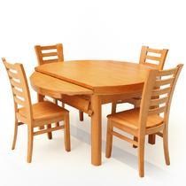 组装支架结构橡胶木圆形简约现代 木轨餐桌餐桌