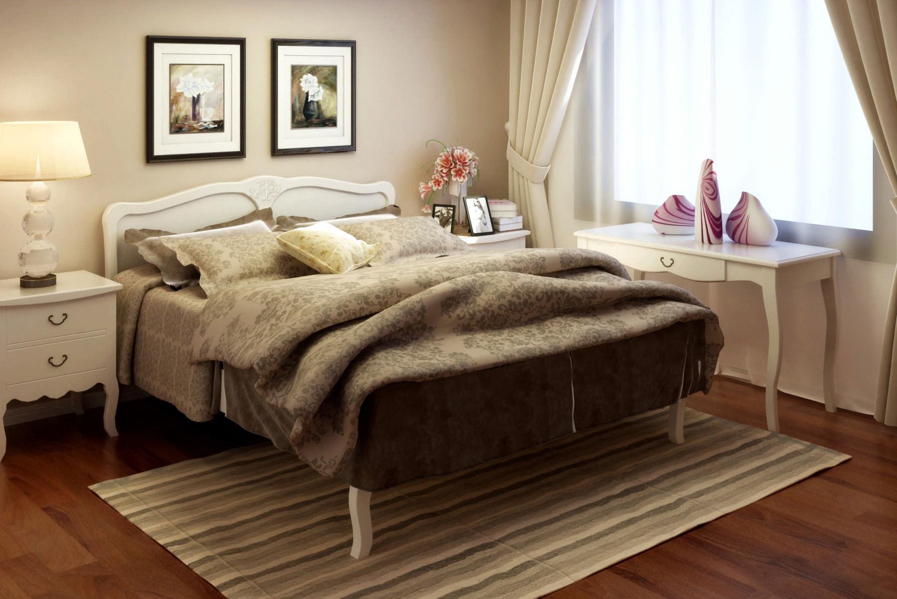喜夢寶 白色框架結構松木儲藏各國風情成人歐式 BE51041床頭柜