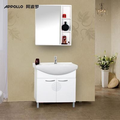 阿波羅 PVC板一體陶瓷盆簡約現代 洗手盆