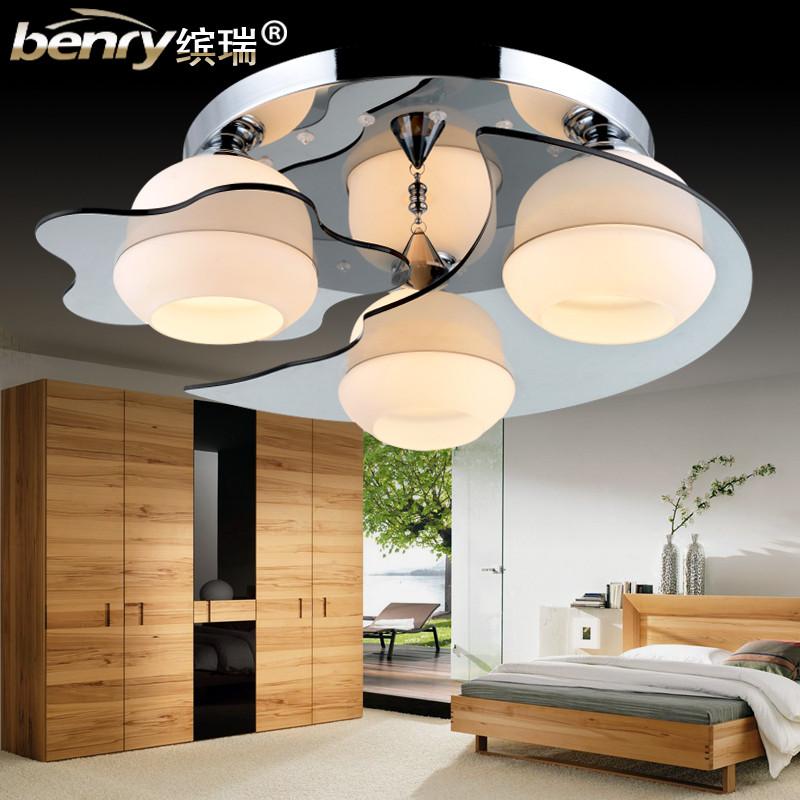 繽瑞 簡約現代鍍鉻圓形白熾燈節能燈LED 吸頂燈