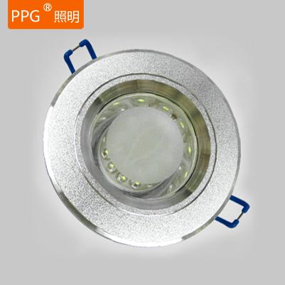 燈狗 鋁LED 銀色磨砂LED筒燈筒燈