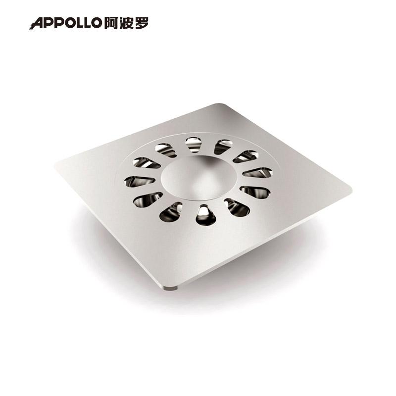 阿波羅 白色不銹鋼洗衣機地漏方形防臭式 地漏