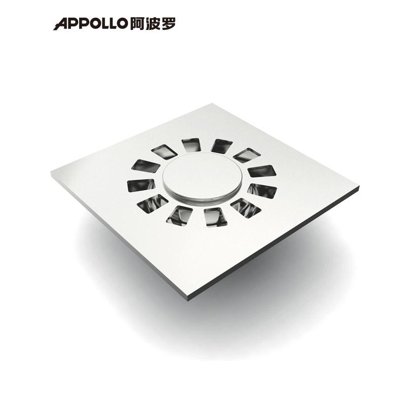 阿波羅 白色銅鍍鉻洗衣機地漏方形防臭式 地漏