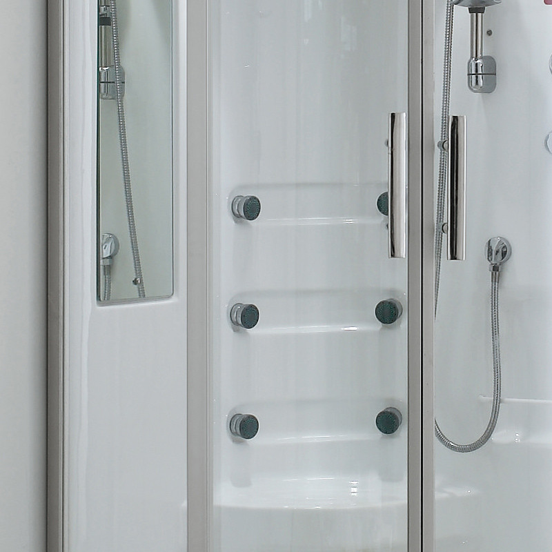 箭牌 透明开放式弧扇型 淋浴房