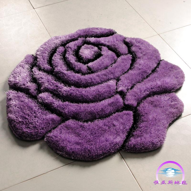 恒亚斯HSH地毯 化纤简约现代涤纶植物花卉长方形日韩机器织造 地毯