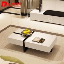 拼板密度板/纤维板面料油漆工艺人造板工艺烤漆简约现代 茶几