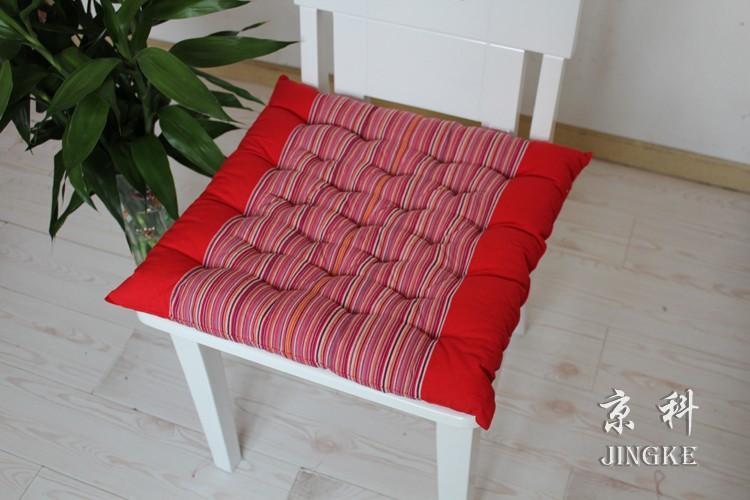 京科布条纹简约现代坐垫