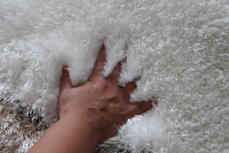 亚亨蚕丝可手洗简约现代几何图案长方形日韩手工织造地毯
