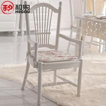 橡胶木移动成人田园 餐椅