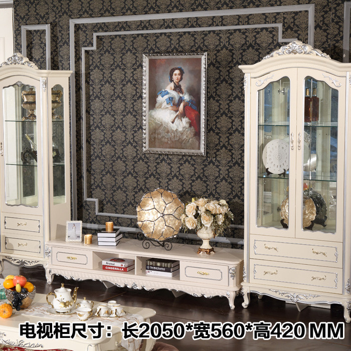 法丽莎框架结构橡木储藏艺术成人欧式电视柜电视柜