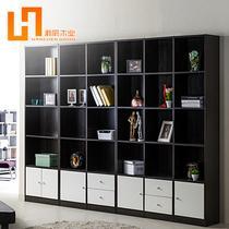 人造板浮雕刨花板/三聚氰胺板箱框结构储藏品牌LOGO成人简约现代 书柜