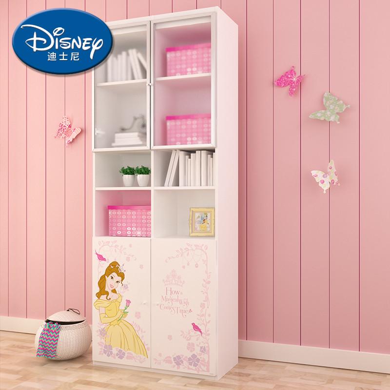 迪士尼人造板麻面刨花板三聚氰胺板框架结构储藏童趣玩具儿童简约现代-白雪公主书柜