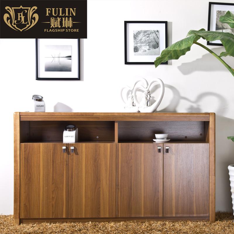 赋琳 浅胡桃色箱框结构橡木储藏艺术简约现代 餐边柜