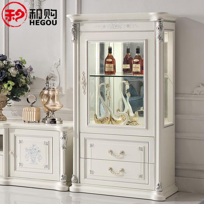 和購 框架結構橡膠木儲藏抽象圖案歐式 酒柜
