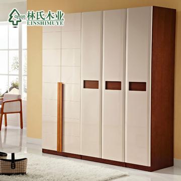 林氏木业图片色橡胶木成人现代中式衣柜
