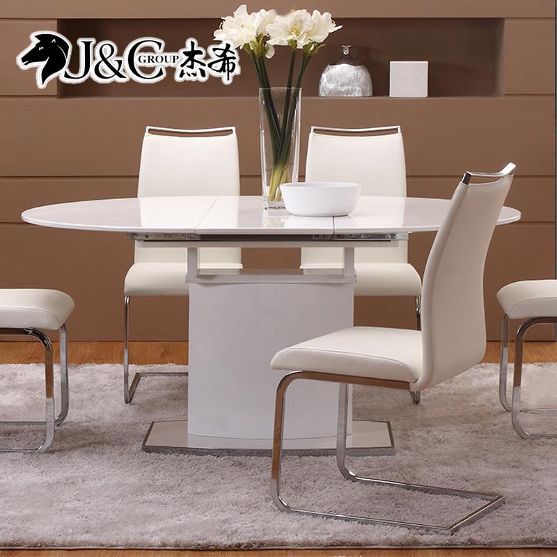 杰希家具金属磨砂钢皮革拆装成人简约现代餐椅