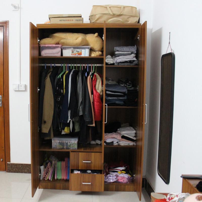 木月人造板浮雕密度板纤维板三聚氰胺板储藏平拉门成人简约现代系列衣柜