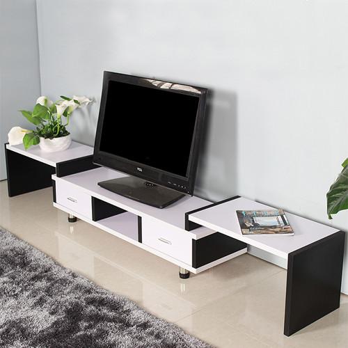 幸福缘黑白电视柜人造板免漆刨花板三聚氰胺板框架结构多功能成人简约现代电视柜