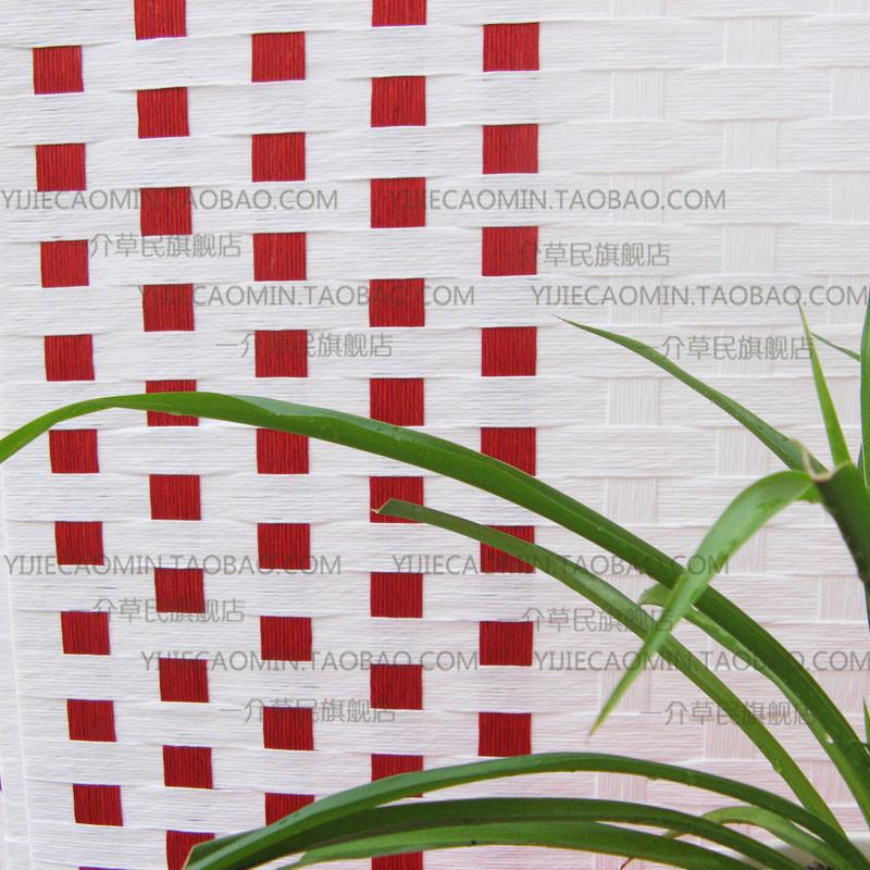 一介草民纸无木质工艺榫卯结构抽象图案田园屏风