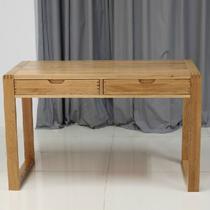 原木色组装电脑桌橡木储藏单个简约现代 书桌