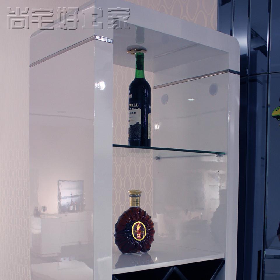 尚宅好家酒柜酒架玄关柜密度板纤维板框架结构多功能抽象图案简约现代玄关