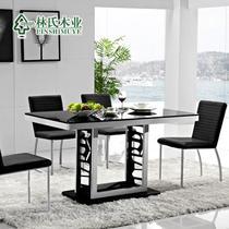 图片色散装玻璃框架结构移动长方形简约现代 餐桌