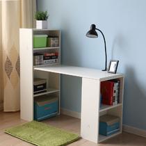 白色枫木色人造板电脑桌书架刨花板/三聚氰胺板台式电脑桌简约现代 电脑桌
