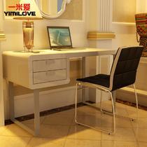 单个书桌人造板密度板/纤维板台式电脑桌艺术简约现代 电脑桌