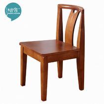 橡胶木移动成人现代中式 餐椅