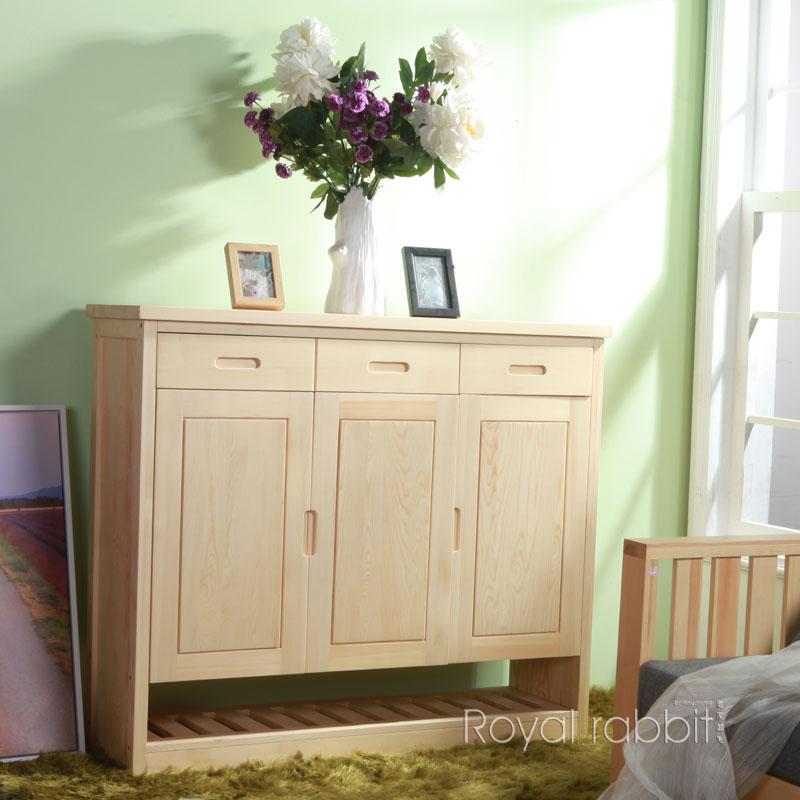 皇家御兔 框架结构松木储藏对开门美式乡村 鞋柜