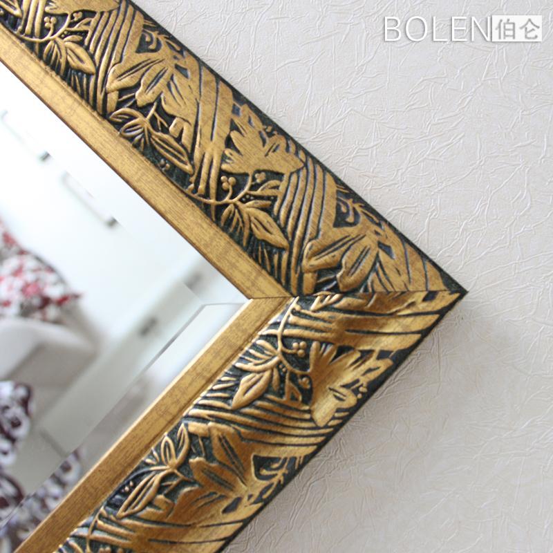 亮金色仿古银仿古金悬挂方形欧式穿衣镜