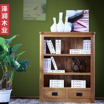 仿古色小书柜框架结构橡木储藏成人欧式 书柜