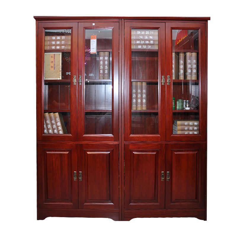 四门成人_森枫家具 木成人现代中式 宏达 上下门四门书柜 02电脑桌