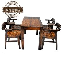 实木美式乡村 hw4咖啡桌