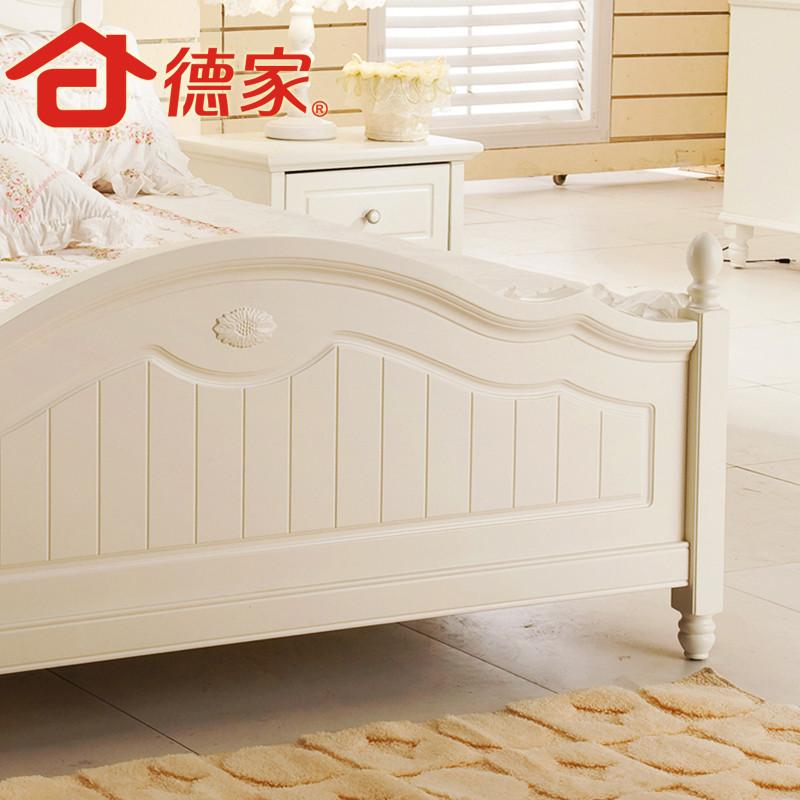 德家 橡木框架结构田园雕刻 800-1田园床床