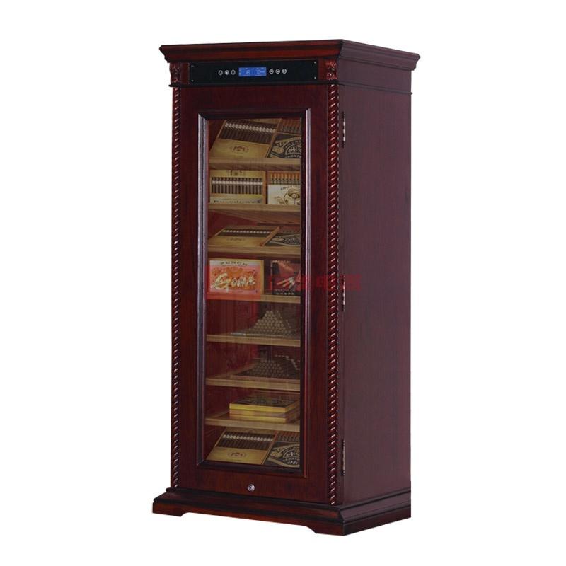 富貴紅 紅木紋單冷藏電腦式定頻風冷式壓縮機風冷恒溫恒濕雪茄柜1級 酒柜