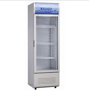 星星 銀灰色R600a金屬層架直冷側開門288L機械溫控 酒柜