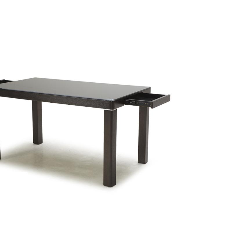 顾家家居 黑色储藏长方形简约现代 餐桌