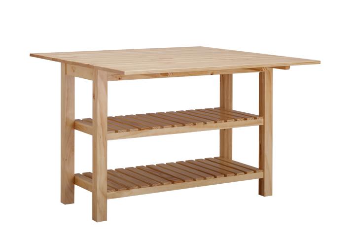 喜夢寶 組裝框架結構松木長方形簡約現代 餐桌
