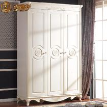 R135衣柜/荷花白橡胶木储藏平拉门成人田园 衣柜
