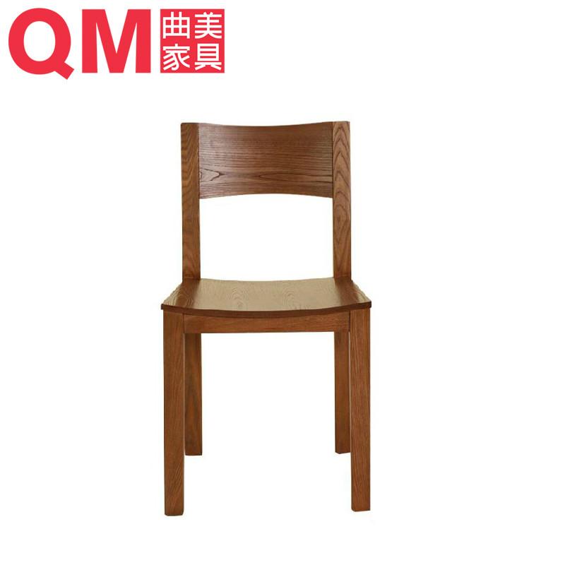 曲美 084-深橡色多功能成人簡約現代 餐椅