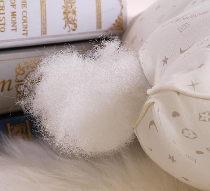 妍心米黄一个十孔枕斜纹布优等品棉布纤维枕长方形枕头护颈枕