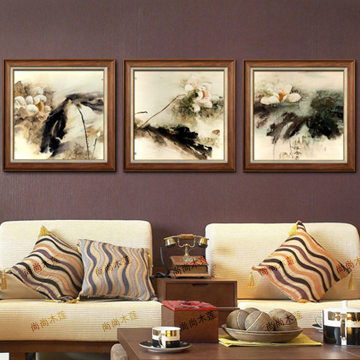 尚尚木莲平面韩国进口高档框料有框风景印刷装饰画