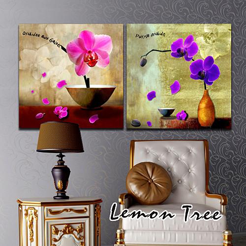 柠檬树联联平面无框独立植物花卉喷绘装饰画
