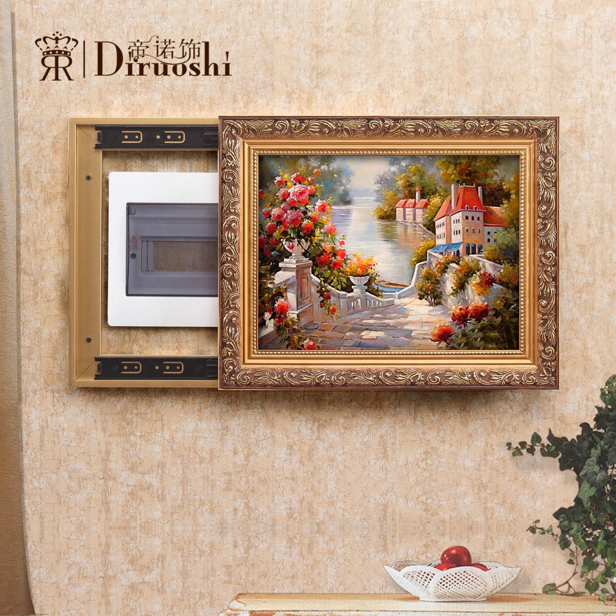 帝诺饰立体有框边框可以任选,需备注风景喷绘装饰画