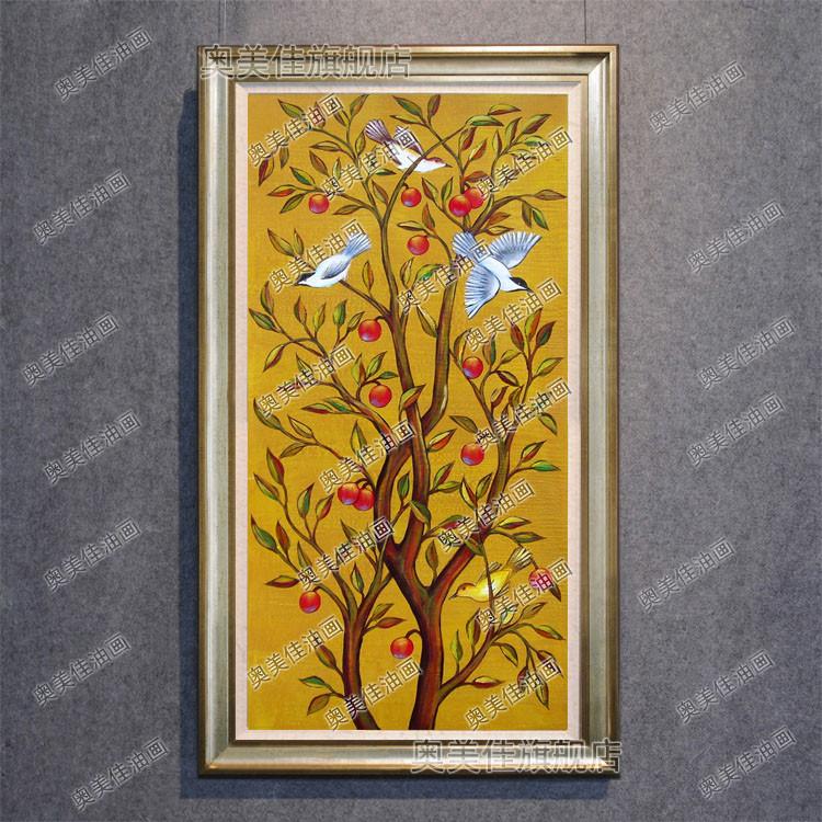 奥美佳 平面有框独立风景手绘 装饰画