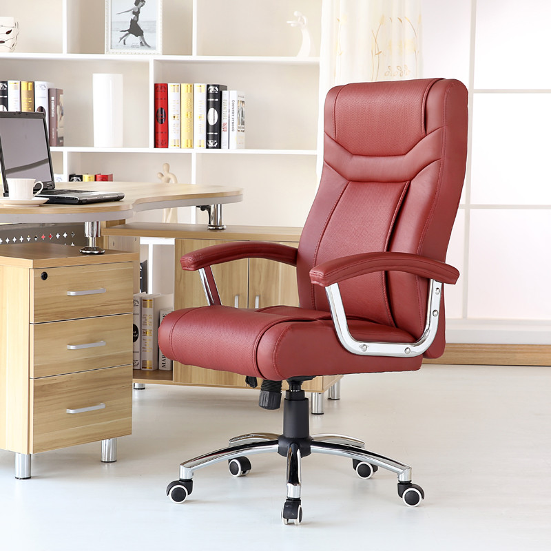 竹璟 固定扶手鋁合金腳鋼制腳皮藝杉木 電腦椅