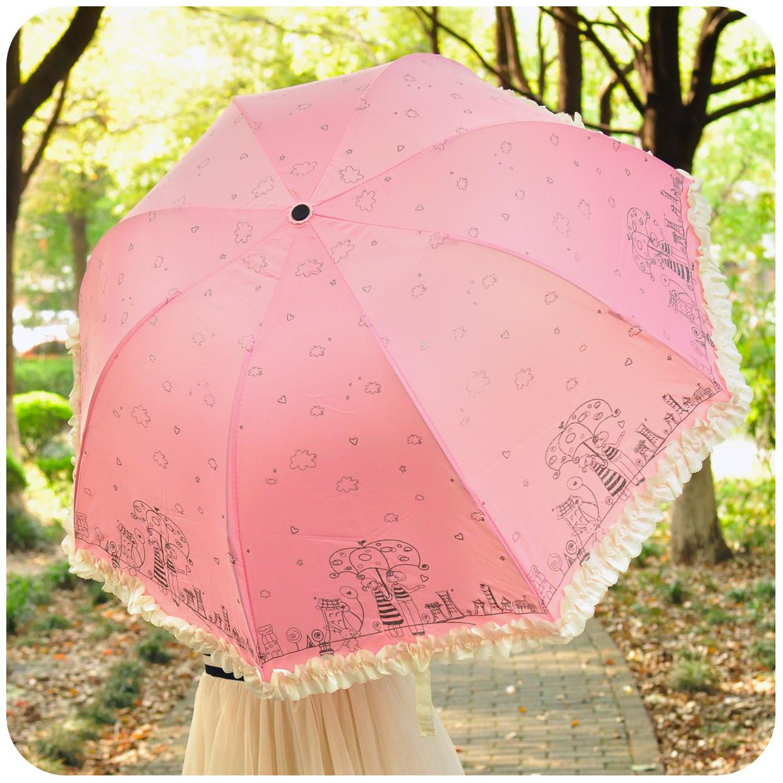 默默爱碰击布晴雨伞遮阳伞