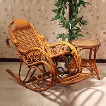 植物藤编织/缠绕/捆扎结构伸缩成人田园 摇椅