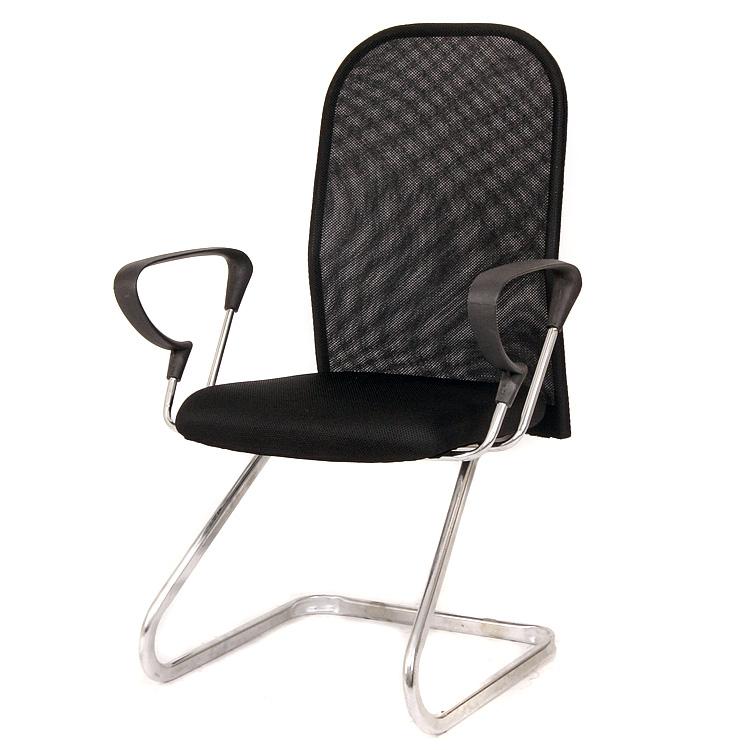 亿家达蓝色橙色绿色红色黑色固定扶手钢制脚网布电脑椅